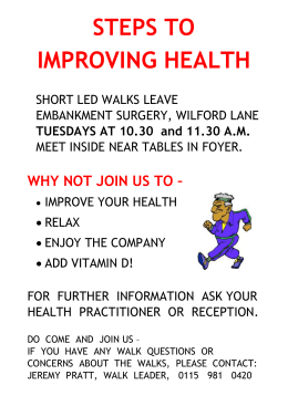 Walking for Health Poster - Castle Healthcare Practice
