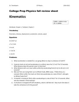 Worksheets Kinematics Worksheet kinematics worksheet