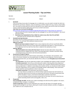 Lesson Plan Template with Tips