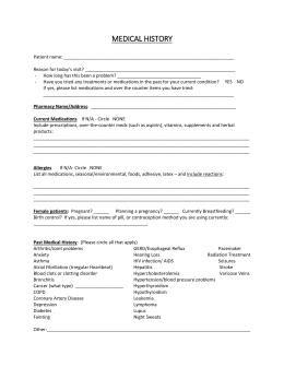 patient registration forms for a medical office