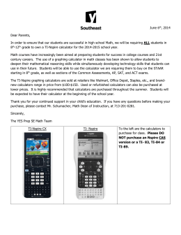 Mandatory Calculator Letter