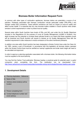 Biomass Boiler Information Request Form
