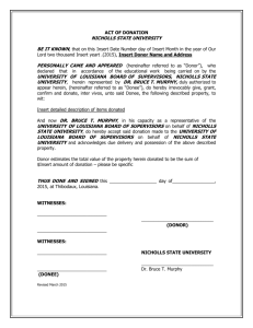 Act of Donation Form