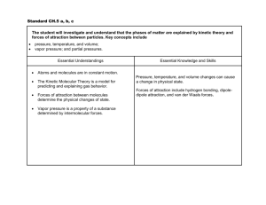 Standard CH.5 a, b, c The student will investigate and understand