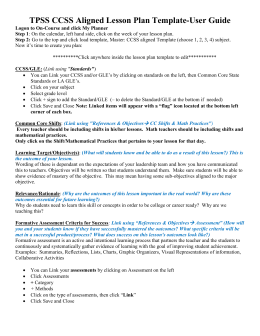 6th grade science instructional focus tpss ccss aligned lesson plan template urtaz Images