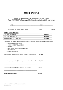 Urine sample form