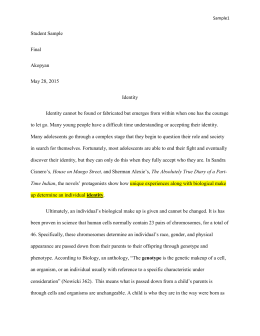 student sample essay - Interpretive Essay Examples