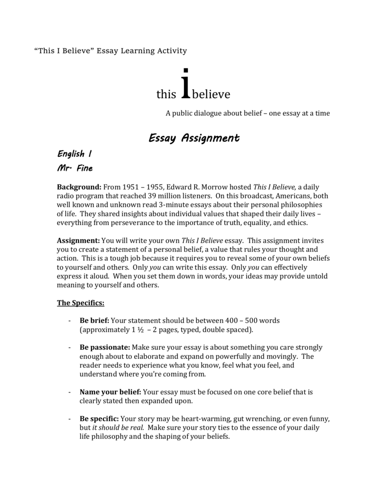 i believe essay rubric A resource to assist tutors working with  looking at the marking rubric 7   many students believe that having an essay free of.