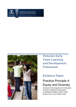 Equity and diversity - Department of Education and Early Childhood