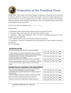 Form 030 Presidential Evaluation