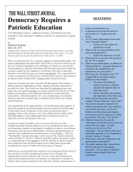 Democracy Requires a Patriotic Education