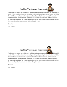 Spelling Homework Explanation2015