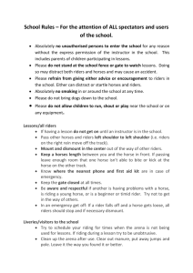 School Rules - Larkrigg Riding School