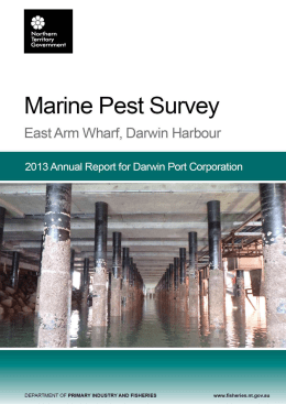 2013 - Marine Pest Survey - East Arm Wharf
