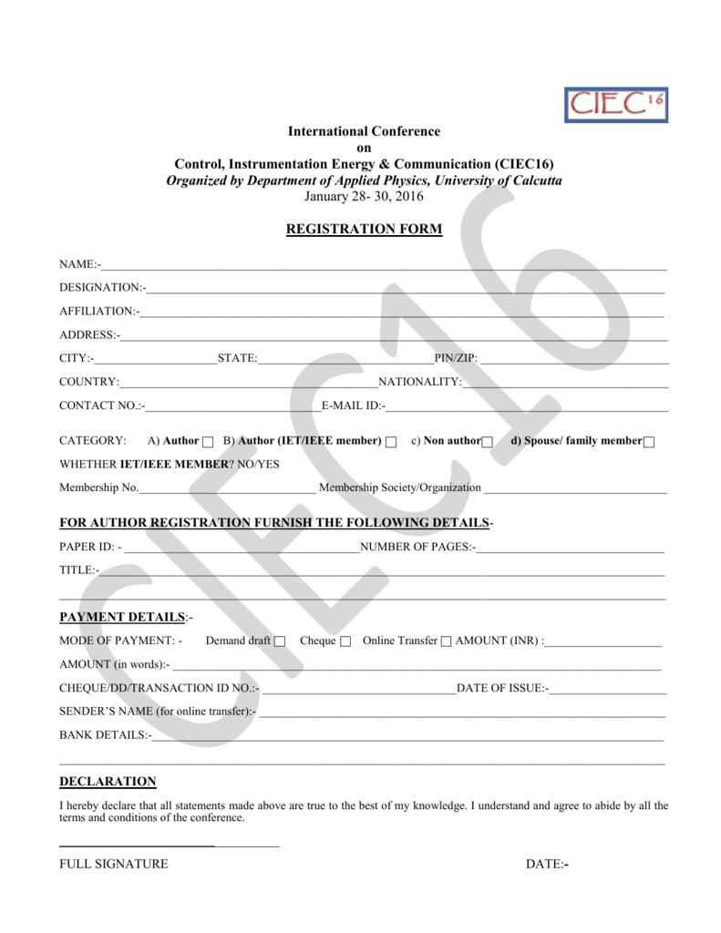 Registration Form on business application form, chase bank application form, bank check register form, sample bank statement form, bank information form, teacher application form, bank employment application form, bank loan application form,