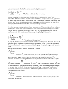 Transcendental Algebra – Solution