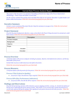 Future state process report template current state process analysis report template maxwellsz