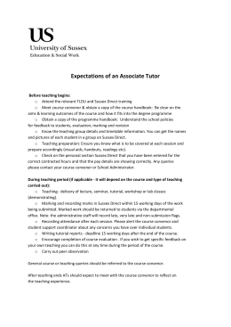 Expectations of an Associate Tutor [DOCX 48.11KB]