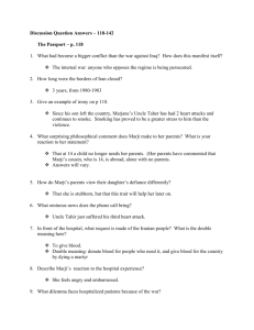 Persepolis Discussion Question Notes