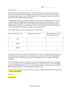 Sixth Grade FAST Letter - Iowa Reading Research Center