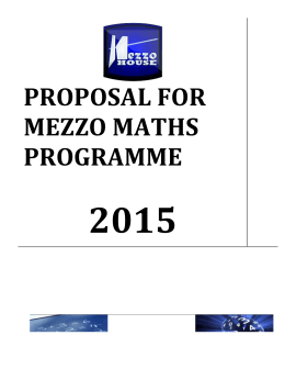 Proposal - Mezzomaths