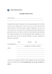 Copyright Transfer Form