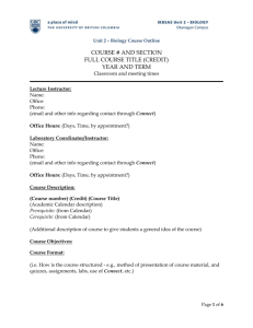 Course Outline Template For Lecture And Lab Courses