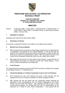 12th january 2015 trustee minutes