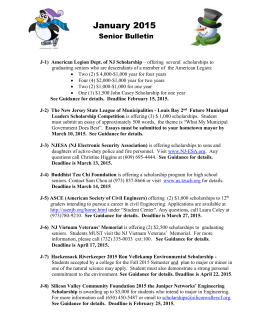 January 2015 Senior Bulletin J-1) American Legion Dept. of NJ