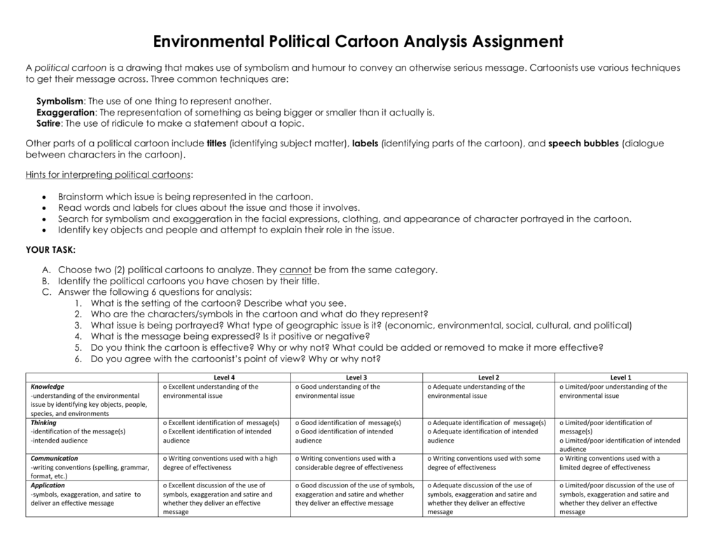 U17b politicalcartoonanalysis assignment biocorpaavc Choice Image