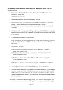 Board of Trustees minutes 24 November 2014