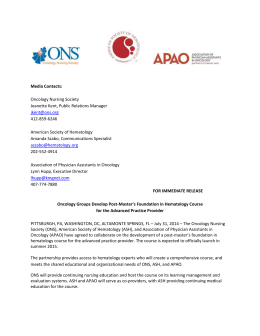 ASH ONS APAO heme course press release
