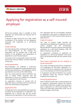 Applying for registration as a self-insured employer