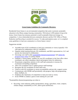 Green Games Guidelines for Community Directors: Residential