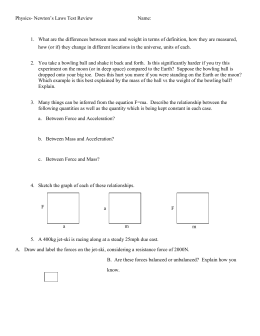 Physics- Momentum and Impulse Quiz I
