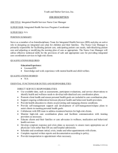 Lead Resident Counselor Job Des - Youth & Shelter Services, Inc.