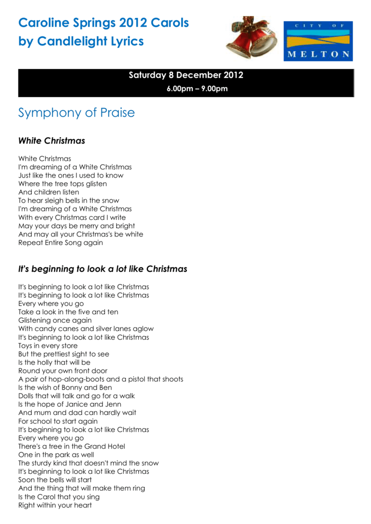 jingle bells - Im Dreaming Of A White Christmas Lyrics