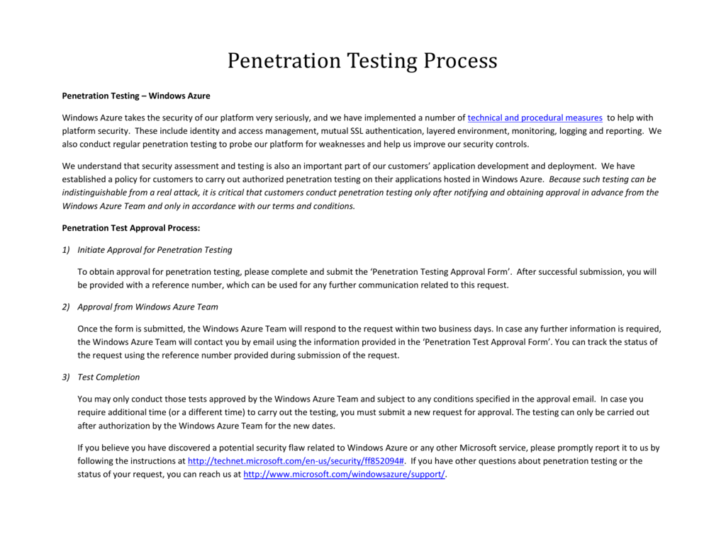 Penetration test authorization
