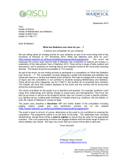 copy of the letter - University of Warwick