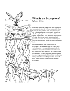 What Is an Ecosystem? - Hobbs Municipal Schools