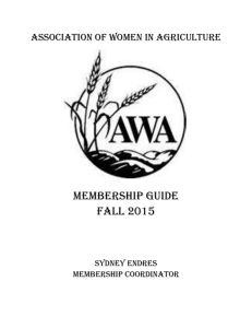 Membership Guide - Association of Women in Agriculture