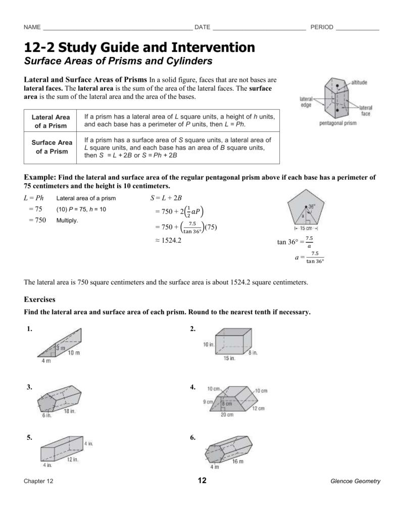 worksheet Surface Area Cylinder Worksheet worksheet surface area of prisms and cylinders discoverymuseumwv areas cylinders