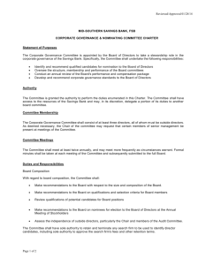 Corporate Governance & Nominating Committee Charter
