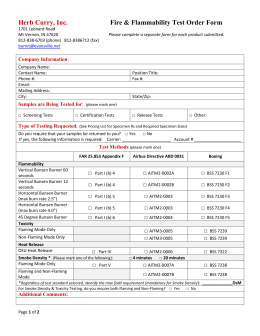 Herb Curry, Inc. Fire & Flammability Test Order Form