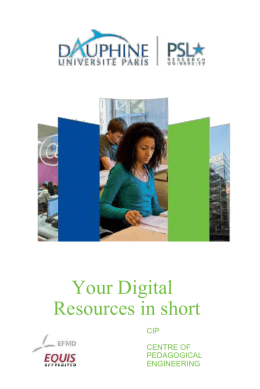 "Guide ""Your Digital Resources in short"" - Université Paris"