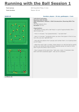 Running with the Ball Session 1