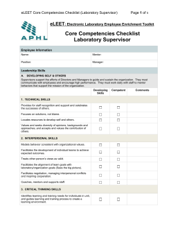 Core Competency List