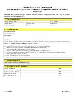 Form AP-12 - Texas State University