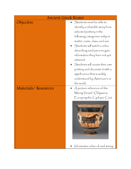 Ancient Greek Krater