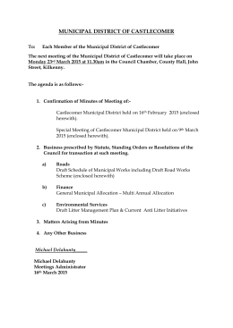 Agenda_Castlecomer Municipal District_Mar 2015